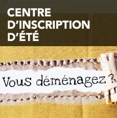 CENTRE D'INSCRIPTION D'ÉTÉ